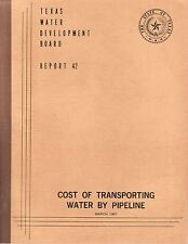 Cost of Transporting Water By Pipeline (Report 42)