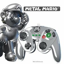 NINTENDO Wii & Wii U * NEW * METAL MARIO Super Fight Pad Controller