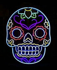 "20"" X 24"" New Skull neon sign store display beer bar sign Real Neon F  big"