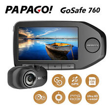 PAPAGO GoSafe 760 GPS GS760 Dual Cameras Front+Rear  w 1440P/OTG + Gps function