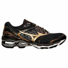 Mizuno Wave Creation 17 Men Black Gold Running Shoes Size 8.5 New!
