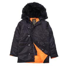 Alpha Industries Men's Slim Fit N-3B Parka Black/Orange MJN31210C1 X-Small