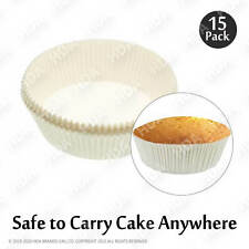 20cm Approx Pack of 15 Cake Tin Liners Silicon Coated Round shaped Non Stick