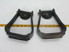 "Vintage Pair of Plastic Stirrups w/Leather Wrapping 2 1/2"" Western SKU D T"