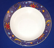"FURIO ASTROLOGICAL 7.5"" CEREAL BOWL MOON SUN STARS ON BLUE RIM FUO45"