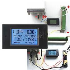 DC Battery 6.5-100V 4 in 1 20A LCD Voltage Current KWh Watt Power Combo Meter