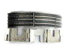 2 Two Sterling Silver Geometric Industrial Link Bracelets MIXED LOT