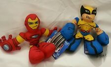 Marvel Iron Man Wolverine Plush Hereos