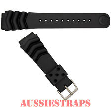 BRAND NEW SEIKO Z22 Rubber Diver's Watch Band Strap Bracelet 22mm Wave Vent SS