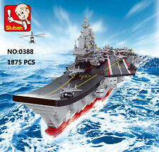 Sluban B0388 Chinese LiaoNing Aircraft Carrier Ship Figures Building Blocks Toy