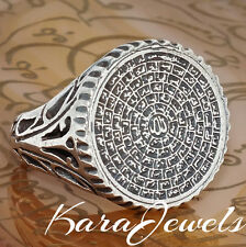 925 Sterling Silver Islamic Men's Ring with 99 Names of Allah Asma ul-Husna