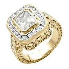 18K GOLD EP 4.95CT DIAMOND SIMULATED RING size 6 or M
