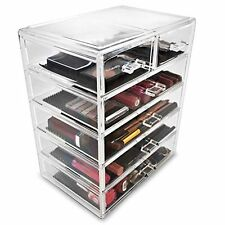 Sorbus Makeup and Jewelry Storage Case Display-4 Large and 2 Small Drawers