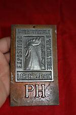 Plaque aluminium Exposition d'Aviculture LA ROCHE SUR FORON 1984 Prix d'Honneur