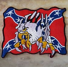 Ecusson patch brodé thermocollant bikers 1% Rebel drapeau