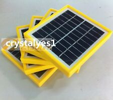 1PC 2W 9V Tempered Glass+Yellow Frame Solar Panel Module System Charger DIY