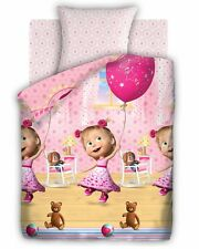 NEW Masha and the Bear (Masha i Medved) Cotton Children's Bedding Set 215x150 cm