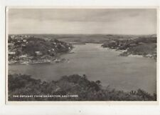 The Estuary From Sharpitor Salcombe Vintage RP Postcard 900a