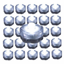 QTY 24 WHITE LED Submersible Underwater Tea lights TeaLight Flameless US Shipper