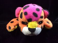 Vintage Lisa Frank Hunter Bean Bag Plush Soft Toy Leopard Rainbow 8""