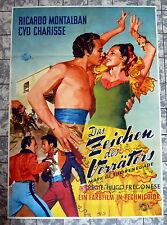 ZEICHEN DES VERRÄTERS * A1-Filmposter -Charisse, Montalban Ger 1-Sheet 1952 RAR