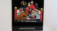 Disney World 2004 The Incredibles Opening Day Pixar Firm Trading Pin - LE 3500