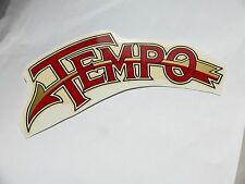 Tempo links Schriftzug Wasserabziehbild Abziehbild 09191T, 150 x 78 mm rot/gold