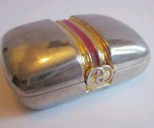 Vintage GUCCI Pill Box Case Accessory GG Medicine Holder Gucci Italy (OBO)