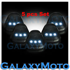 5pcs Cab Roof Top WHITE LED Lights SMOKE Lens Marker Running Lamps truck RV 4X4