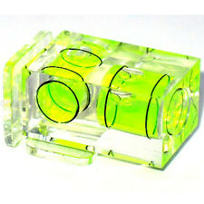 New Double 2 Axis Bubble Spirit Level Gradienter Hot Shoe For Canon Nikon