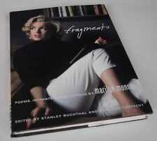 Marilyn Monroe: Fragments: Poems, Intimate Notes, Letters. Hardcover, 2010.
