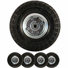 """4 x REPLACEMENT 10"""" INCH PNEUMATIC SACK HAND TRUCK TROLLEY WHEEL BARROW TYRE"""