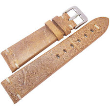 20mm ColaReb Firenze Mens Tan Distressed Leather Made in Italy Watch Band Strap