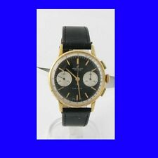 Stunning Retro 14k Gold Swiss Breitling Top-Time Chronograph Wrist Watch 1962