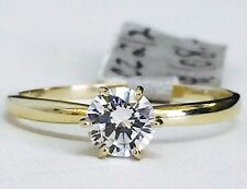 14k yellow gold Classic/Simple Solitaire engagement ring 5mm