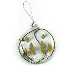 Beautiful Gold Reindeer Glass Bauble Christmas Tree Decoration Ornament 128244
