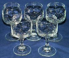 Vintage Libbey Rock Sharpe CHIVALRY Wine Goblets/Glasses 8oz CLEAR Set of (5)