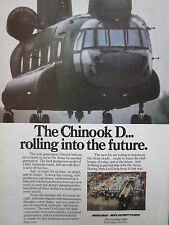5/1982 PUB BOEING CHINOOK CH-47D HELICOPTER HUBSCHRAUBER HELICOPTERE ORIGINAL AD