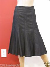 WESTBOUND WOMAN DARK BLUE BLACK JEAN PLEATED DENIM KNEE LENGTH SKIRT SZ 20W