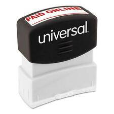 Universal Office Products 10156 Message Stamp, Paid Online, Pre-inked One-color,