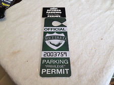Retired Privilege Parking Permit Gag Gift Novelty Senior Birthday Party Gift
