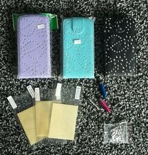 Lot of 3 bling covers/cases/pouches, screen protectors etc Samsung Galaxy S3 NEW