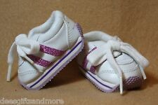 Doll Clothes fitting 18 in American Girl Sparkling White & Lilac Tennis Shoes