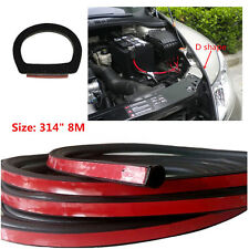 "314"" 8M Big DShape Strip Trim Rubber weatherstrip car Door Window EPDM Tape Edge"