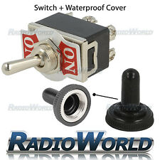 Waterproof ON / ON Toggle Flick Switch 12V Car / Boat Dash Light / Door DPDT 10A