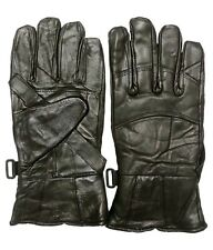 V4M GENUINE MOTORCYCLE BIKER LEATHER WINTER DRIVING BIKE RIDER GLOVES (1 pair )