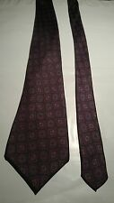 Pierre Cardin Men's Vintage Silk Tie in Grey with Blue and Red Geometric Pattern