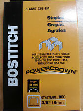 1.000 Stanley Bostitch stcr5019 3/8 9mm Grapas