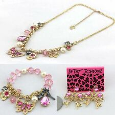 NEW Betsey johnson Fashion butterfly flower necklace and bracelet and earrings