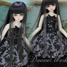 New1/3 1/4 BJD DOD DOLLFIE Clothes Grey Color Strapless Decorative pattern Skirt